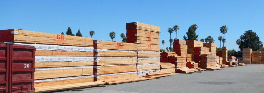 Image of stacks of lumber